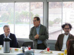 En la oportunidad el director del programa de doctorado BEA, Dr. Julio Vásquez dio la bienvenida a los nuevos estudiantes.