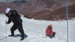 Glaciar Tapado, en la Región de Coquimbo, uno de los glaciares estudiados en la investigación.