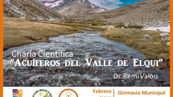 En charla de divulgación para todo público: informarán particularidades de aguas subterráneas en el Valle de Elqui