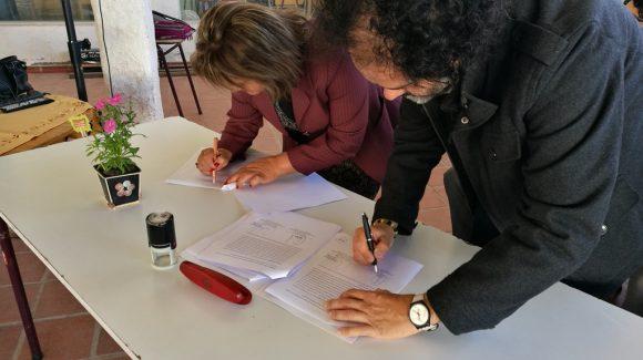 CEAZA reafirma compromiso de trabajo y apoyo en Liceo Polivalente de Tongoy