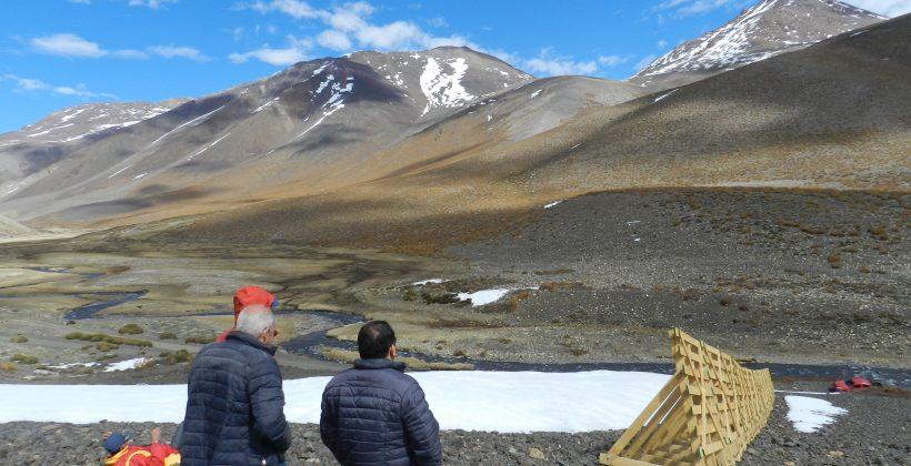 Con realidad virtual entregan resultados de proyectos sobre recursos hídricos: Presentan barreras que reducen pérdida de nieve e inéditos pozos de medición de reservas de agua en la cordillera