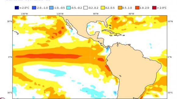 Boletín Climático de CEAZA: Se confirmaría presencia de Fenómeno de El Niño en los meses de marzo y abril